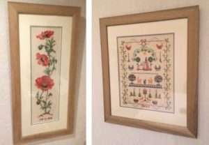 How to Frame a Cross Stitched Piece